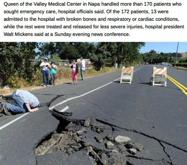 UPDATE: 170+ people treated for injuries in aftermath of strong #California #earthquake http://t.co/hY1I7ToEur http://t.co/zxGoTB3PCQ