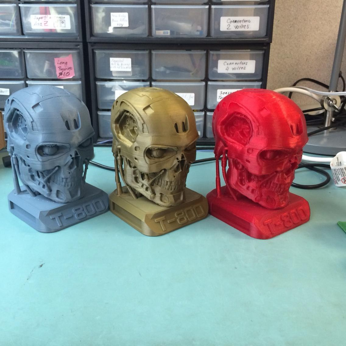 RT @MachinaCorp: The awesome T800 terminator as remixed by our Chris and printed on our 3D printers  - find it on Thingiverse. http://t.co/mBqpU9VwwZ