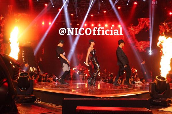 NEZindaCLUB OFFICIAL (@NICofficial): I see you lookin' at my curves #CokeBottle.. @agnezmo @hamada_abdool @gwdancerNEW #AGNEZMOHutSCTV http://t.co/NK8C6iHg1Y