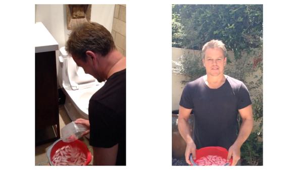 Matt Damon did your #IceBucketChallenge @BenAffleck + @jimmykimmel and it involves a toilet: http://t.co/g38uCTXZEf http://t.co/gJaDI9B70o