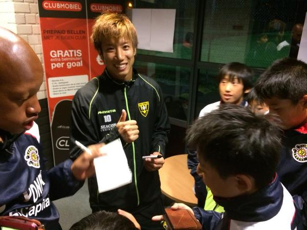 Our @yukiotsu23 has visitors from Kashiwa Reysol, his former club. http://t.co/3S3f5rlEV3