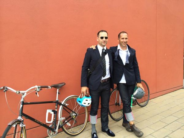 #bike2emmys @MadMen_AMC @TomSmuts @rapha_n_america #bikeLA Almost there! #Emmys http://t.co/NAey1jCQjO