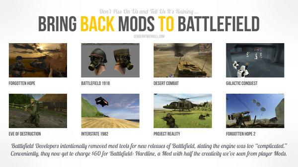 Bring back Mods to @Battlefield http://t.co/qSVNCnS4DT