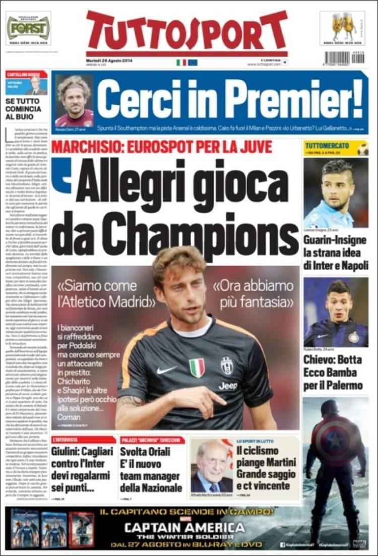 Arsenal challenged by Southampton in the race for Torino striker Alessio Cerci [Tuttosport]