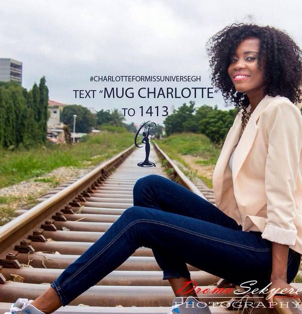 Please text 'MUG Charlotte' to 1413 on MTN, VODAFONE & AIRTEL #3days #countdown @missuniverse_gh @AdamscharlotteK http://t.co/mDP17RvPdt