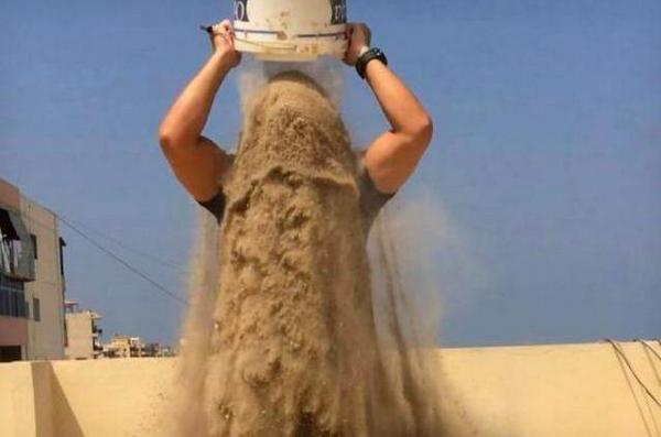 Painfully brilliant. RT @redmatt7: People are now doing the #RubbleBucketChallenge to raise awareness for Gaza. http://t.co/fdx3WvGBKR