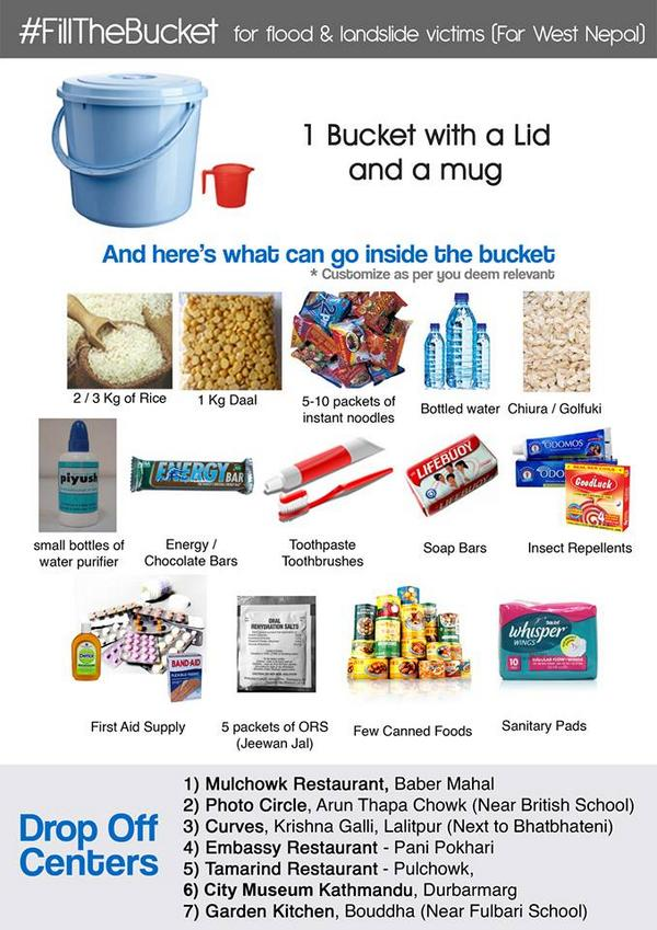 What is #FillTheBucket? What to #FillTheBucket with? Where to drop? RT widely & nominate friends, family & colleagues http://t.co/RWFbzeiKLW