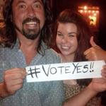 """""""@GenYesMid: Just remember while theyve got Cliff Richard weve got Dave Grohl. Enough said! #VoteYes!! http://t.co/YZWqdRElua"""""""