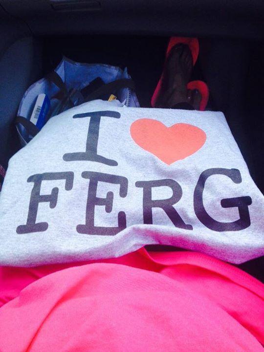 "Available at #Ferguson Farmers Mkt Sat morning: I ♥ Ferg tees, $10 Proceeds benefit FYI (Ferguson Youth Initiative) http://t.co/WXYUZNRKhN"""