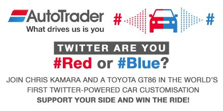 #Win a Toyota #GT86. Tweet #Red or #Blue to @AutoTrader_UK between 1pm and 2pm today! (T&Cs apply) http://t.co/2y2KVDYKXC