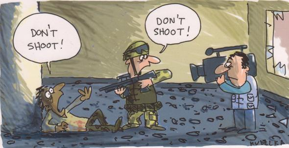 This cartoon by @jonkudelka sums up #Ferguson pretty well, I think. http://t.co/xyijnP5lFO