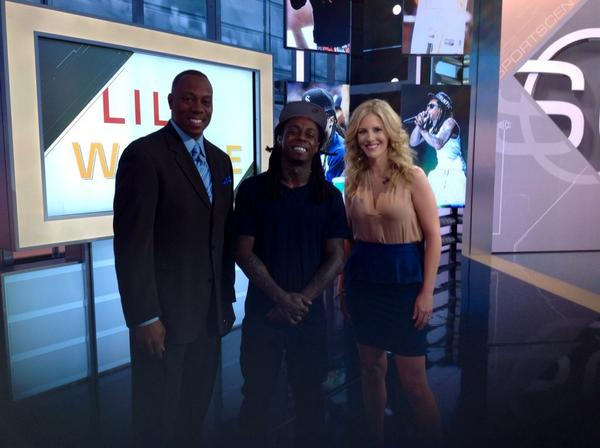 My man @LilTunechi is taking over @SportsCenter this morning with me and @JadeMcCarthy! #ThaCarterV #LilWayneShow http://t.co/IBvquM2A0j