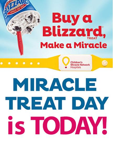 It's #MiracleTreatDay! Stop in a participating @DairyQueen to support Phi Mu's National Philanthropy, @CMNHospitals! http://t.co/GwZLP9qClu