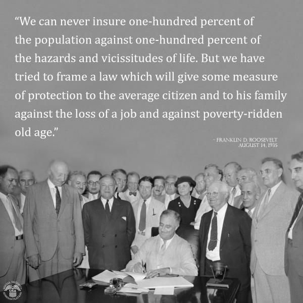 #TBT President Franklin D. Roosevelt signed #SocialSecurity Act into law on August 14, 1935 http://t.co/CAZvxKqs1h http://t.co/9QWflu2Ghj