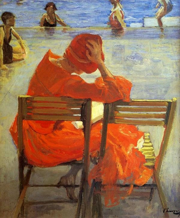 A relaxing weekend:  Girl in a red dress reading by a swimming pool (1887) -  Sir John Lavery (1856-1941)  #art http://t.co/JfXeFlm6W8