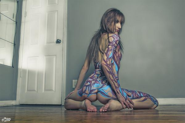 #TBT body paint by @Leekovision <3 http://t.co/LfNZZlX6Pp