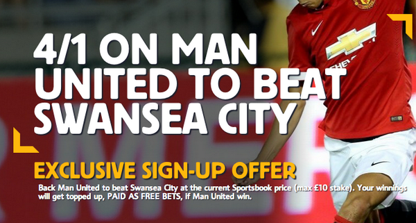Crazy odds! Manchester United are 4/1 to beat Swansea!