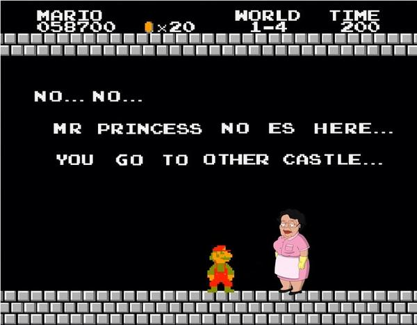 Super Mario meets Consuela http://t.co/Z9h407VbYu