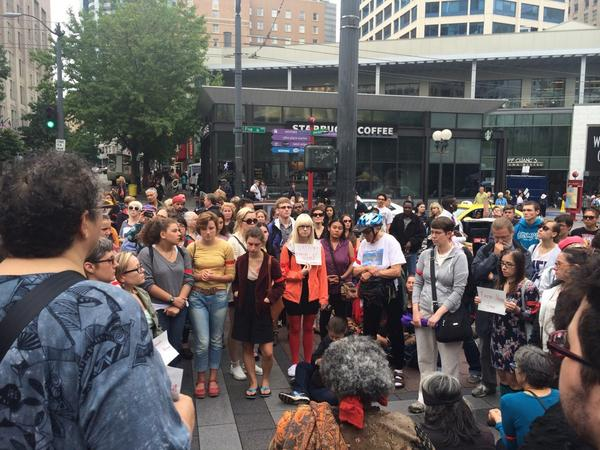 At #NMOS14 in #Seattle  #sea #JusticeForMikeBrown  #MothersforPoliceAccountability http://t.co/PjgCUU7oKK