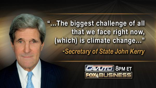 RETWEET if you think Secretary of State @JohnKerry has bigger problems to worry about right now than climate change. http://t.co/Cxn6lRYct4