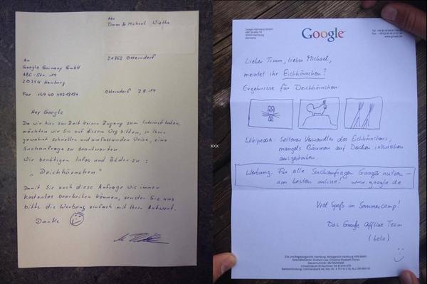 Oh, heute funktioniert Offline Google. Vor Jahren war ich damit noch erfolglos. RT @Ebuzzing_DE: Respekt, @GoogleDE! http://t.co/G4jX4WFwJm