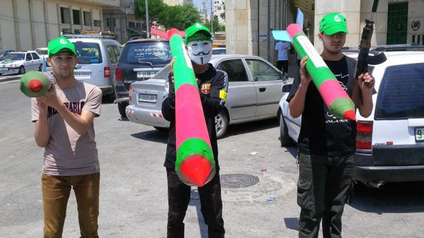 Models of Hamas rockets - the pride of Palestine the told me http://t.co/CROXeiVlct