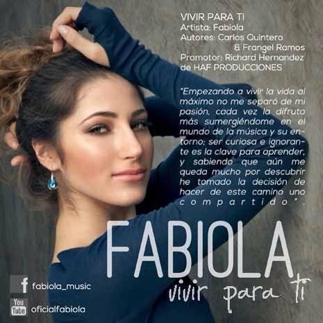 """Hoy 5:00 pm lanzamiento oficial del tema #VivirParaTi de la bella @Fabiola_Music """"HAF Lo hace posible"""" @Hirvinflores http://t.co/W6lyKZDGmA"""