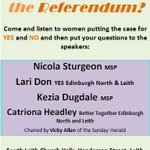 Not sure how to vote in #indyref? Please come along to a meeting for #undecided women voters tonight in Leith: http://t.co/bPESJdbAD4