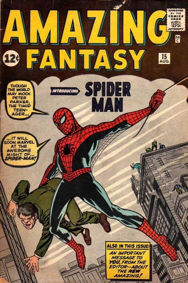 Today in Geek History: Spider-Man makes his first comic debut in 1962. With great power comes great responsibility! http://t.co/xgx4RWCGZL