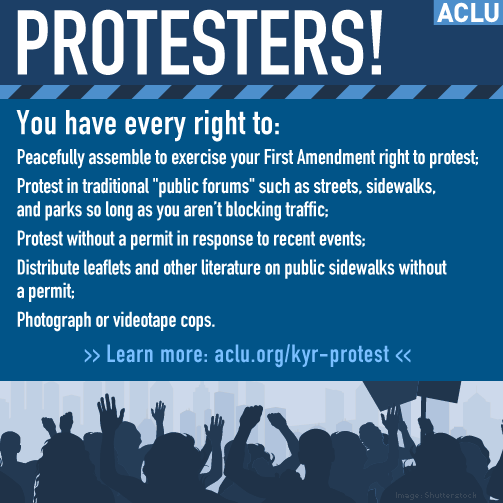 Going to a protest? Know your rights. http://t.co/e9HgbMTq0Y #ferguson #JusticeForMikeBrown http://t.co/czokepXsiQ