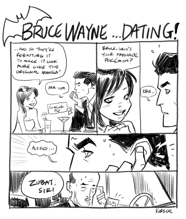 Here's a little hint at what you can expect from our new Bruce Wayne Dating comic: http://t.co/i8V5jHpeaX