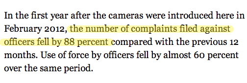Here's what happened when Calif. police started wearing cameras http://t.co/BcJBrDF0Af h/t @kansasalps http://t.co/Fi8s2QXb3Q