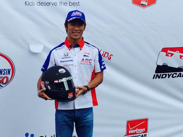 Fun! @TakumaSatoRacer has dropped by #IndyCar Presents: Beer, Cheese & Charity to benefit @Racing_For_Kids http://t.co/Zk2qY8oYz0