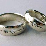 Una pareja ha escrito en sus anillos de boda la grabación de voz de sus nombres http://t.co/ar5Yb1IR1s