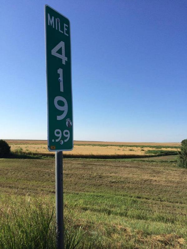 The Colorado 420 mile marker kept getting stolen, so CDOT fixed the problem.. http://t.co/keC8xaMp9x