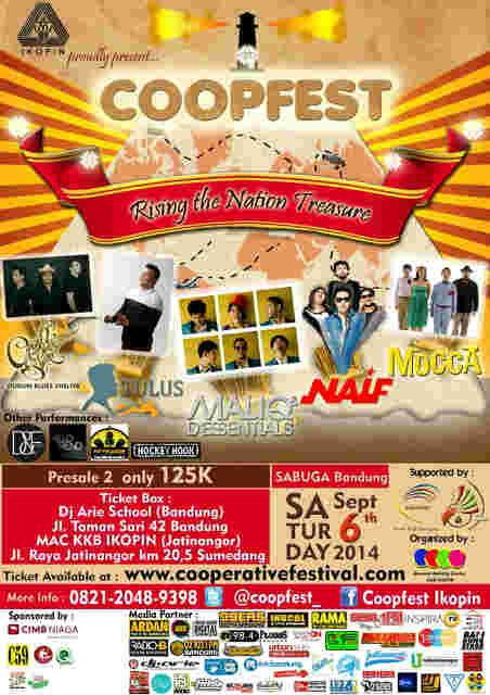 "@MusicListForum RT @Coopfest_ ""w/ @Tulusm @Maliqmusic @Naifband @Moccaofficial @GBluesShelter |6-9-14 at Sabuga http://t.co/nUTQACbWHH"