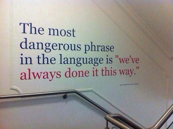 Good read for #BackToSchool: RT @TeachThought: The Most Dangerous Phrase In #Education http://t.co/hu3t44aUbn http://t.co/kXrY2S6JpL