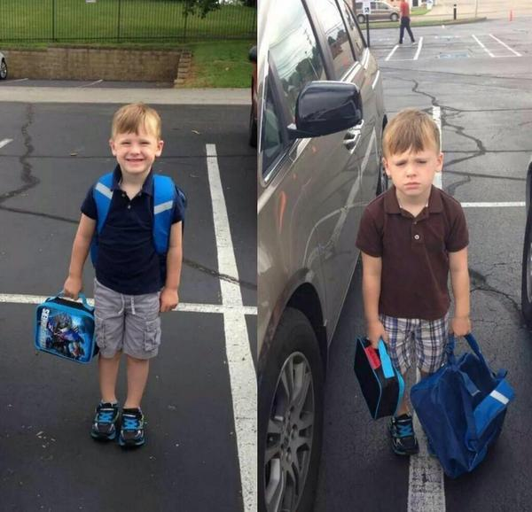 First day of school and second day of school http://t.co/wzIIcYxlUP
