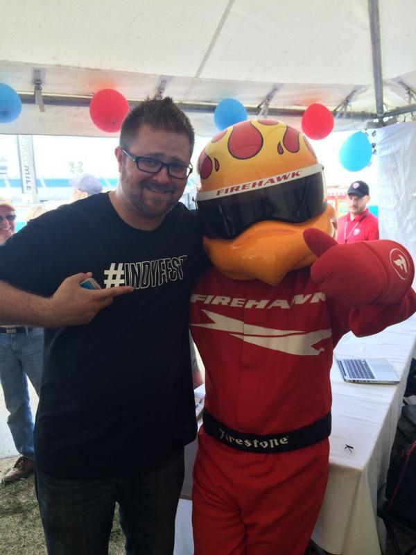 What's a tweetup without a firehawk? Right? @houseofbrew @MKE_IndyFest get to the socials media garage now! http://t.co/27t8gtPDVv