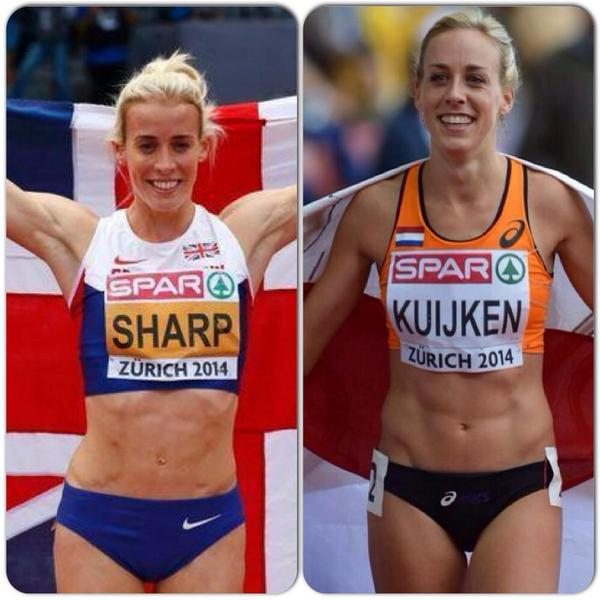 Wow!A scary likeness! 2 medalists today could be sisters!Well done @LynseySharp 800m & @susankuijken 5k @Euro_Champs http://t.co/9hDYRsSL9a