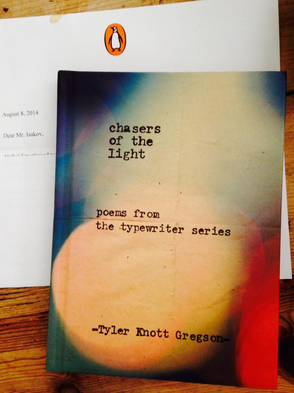 My dear friend @TylerKnott is releasing his 1st poetry book, Chasers of the Light, in Sept! A must-read. @penguinusa http://t.co/eNIDTSnPyJ