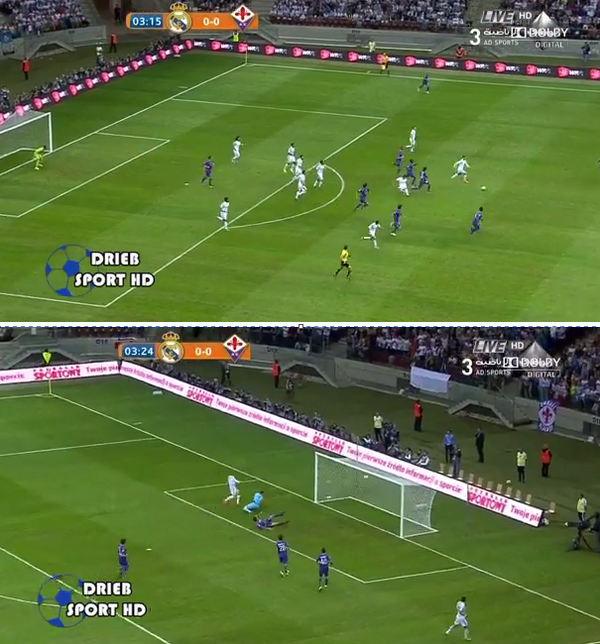 Real Madrid scored a lightning quick counter attack goal v Fiorentina
