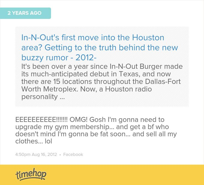 well two out of three isn't bad... but what happened to in-n-out coming to Houston??!  http://t.co/OpEUDLwQua
