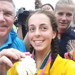 She already has the gold, now @brittadutton is a real contender for #YOGSelfie of the Games! @Olympics #GoAUS http://t.co/W8ZrhE3qbo