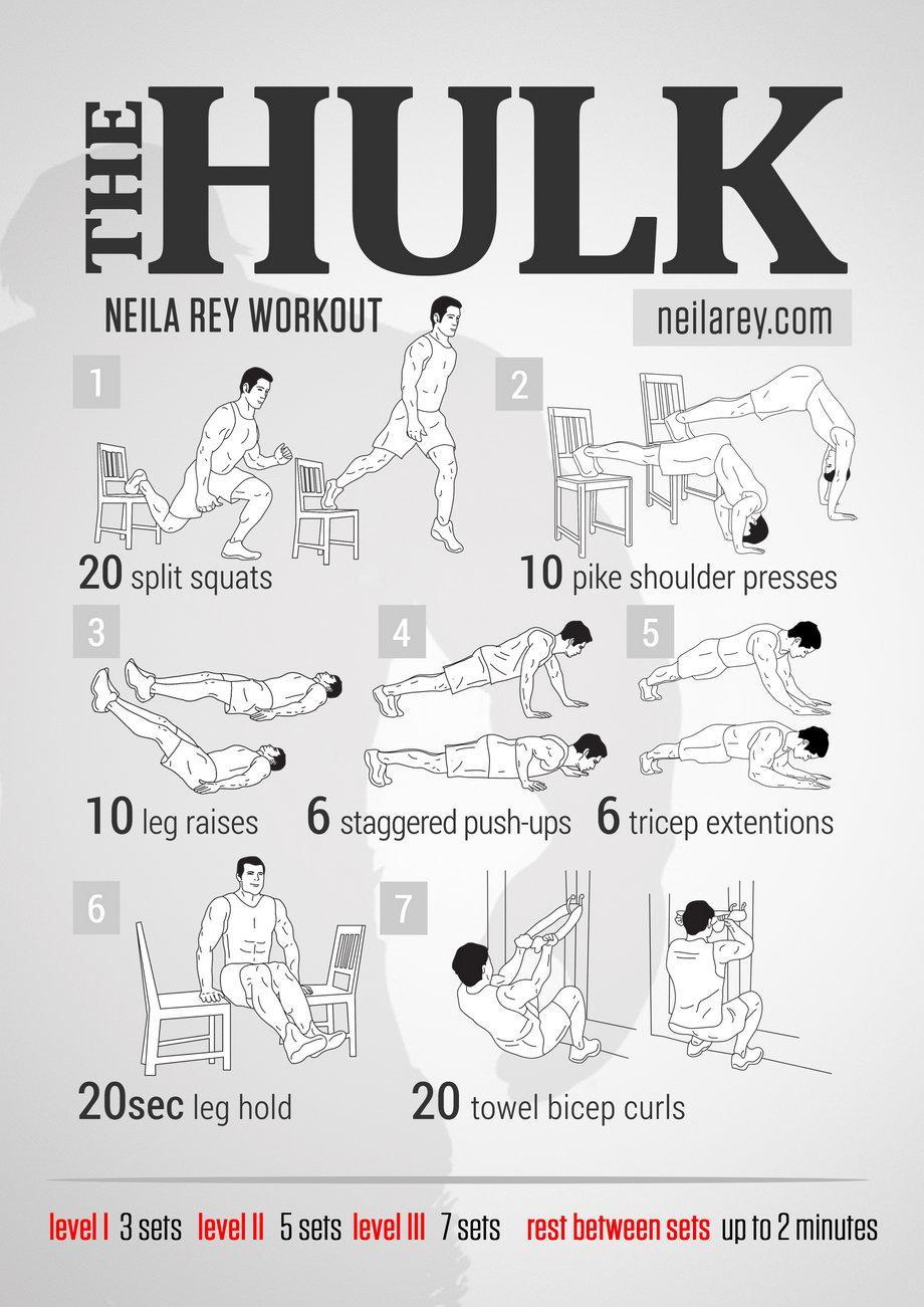 "Domingos de ""no gym? no problem!"" Hoy os traemos el entrenamiento para poneros como Hulk! (figuradamente, claro) ;) http://t.co/oO36Ziw10M"