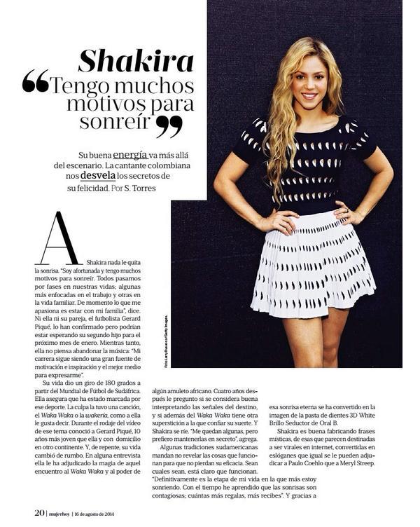 """Scans: #Shakira / Revista """"Mujer de Hoy"""" - #Espanha http://t.co/tq2XuNZKv4"""