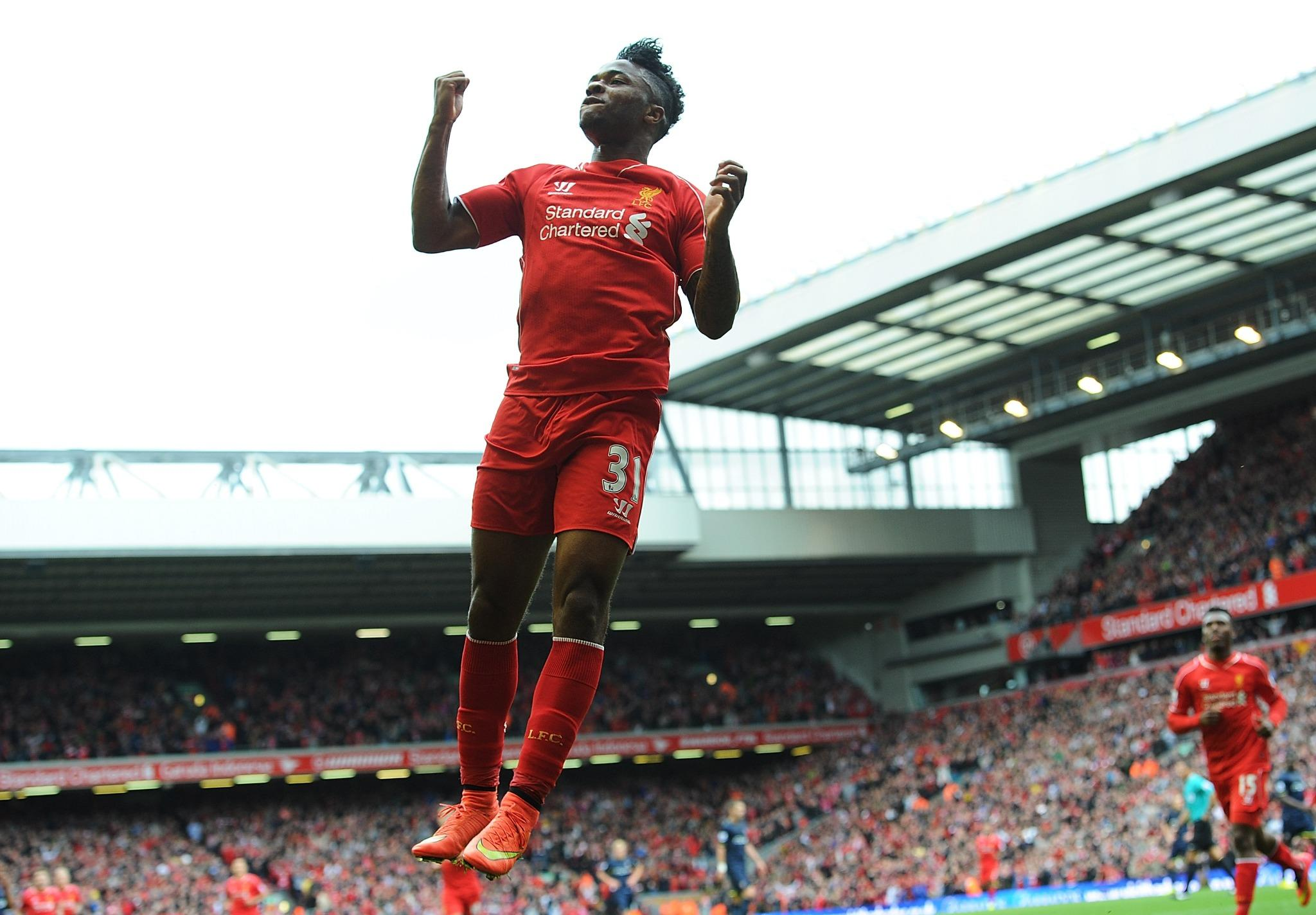 PHOTO: @sterling31 gets off the mark for the new season... #LFC http://t.co/mktcLmNx07