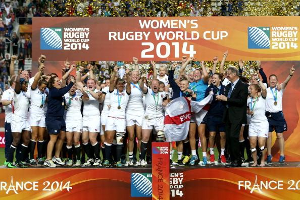 The money shot: England lift the Women's Rugby World Cup. http://t.co/z5MiacgKwc