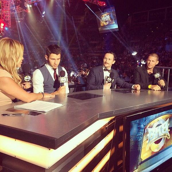 Enjoyed having @MattLauria @jonathanmtucker & @nickjonas on @BKB last night to talk about their new MMA show Kingdom http://t.co/kMqIXUX3we