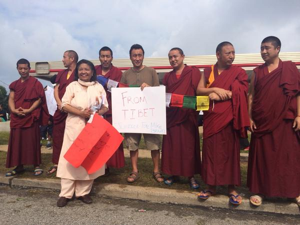 Monks from Tibet come all the way to Ferguson to protest. http://t.co/IRRBsnrigY